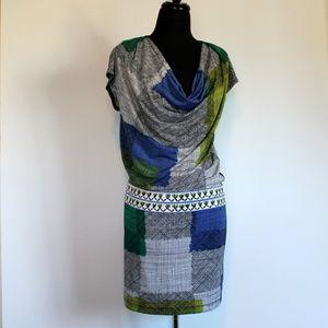 BCBG MaxAzria Graphic Drape Dress, XS